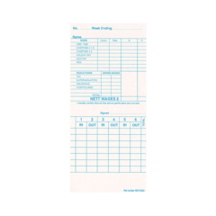 Bx1500w Time Cards – Box Of 1000