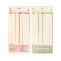 Mjr 000 199 Time Cards – Packet Of 200
