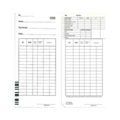 Qr375d Time Cards – Packet Of 100