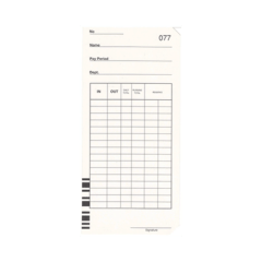 Qr375s Time Cards – Packet Of 100