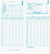 KP210M Time Cards - Packet of 100
